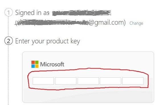 enter office product key